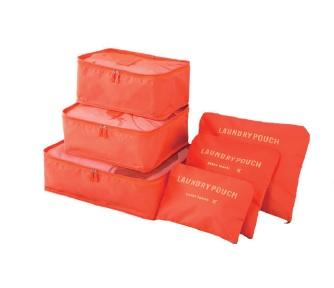 Organizery Podróżne VESPERO - zestaw 6 sztuk - orange