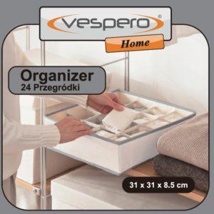 Organizer do szafy VESPERO, 24 przegródki, rozm. 31x31x8,5 cm