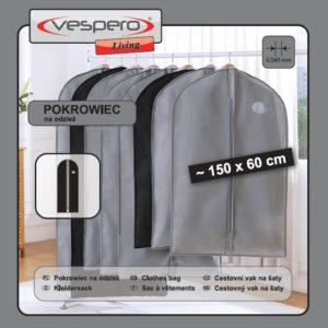 Pokrowiec na odzież 150x60 VESPERO Living (grubość materiału 0,45)