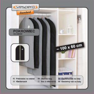 Pokrowiec na odzież 100x60 VESPERO Standard / Exclusive (grubość materiału 0,8)