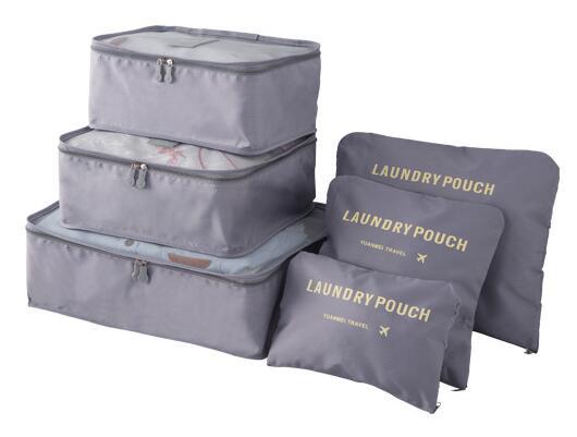 Organizery Podróżne VESPERO - zestaw 6 sztuk - gray