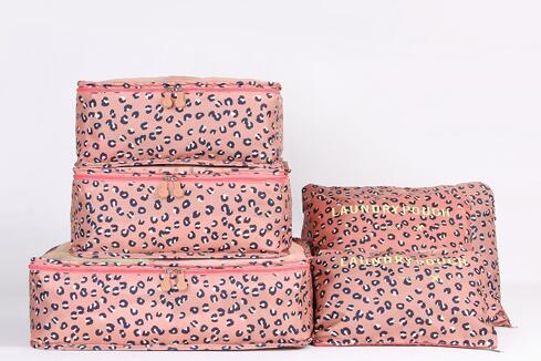 Organizery Podróżne VESPERO - zestaw 6 sztuk - pink